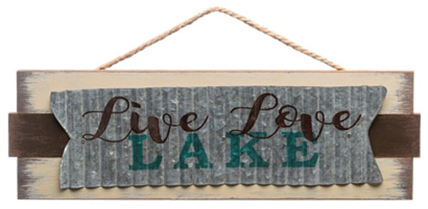 Live Love Lake 18.75 X 6 Wood Sign