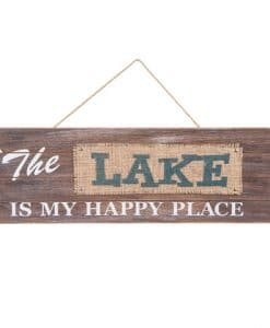 The Lake Is My Happy Place 21 x 7 Wood Sign
