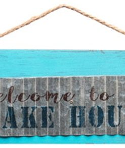 "Welcome To The Lake House 18.75"" X 6"" Wood Sign"