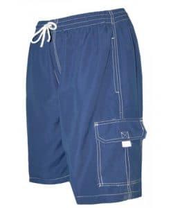 Men's Blue Swim Trunk Board Shorts - Surf Ave