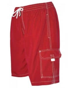 Men's Red Swim Trunk Board Shorts - Surf Ave