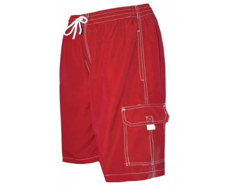 Men s Red Swim Trunk Board Shorts - Surf Ave - Anchor Bay Life 9980d70fd