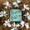 """Happy Easter 16"""" Burlap Wreath Door Decor"""