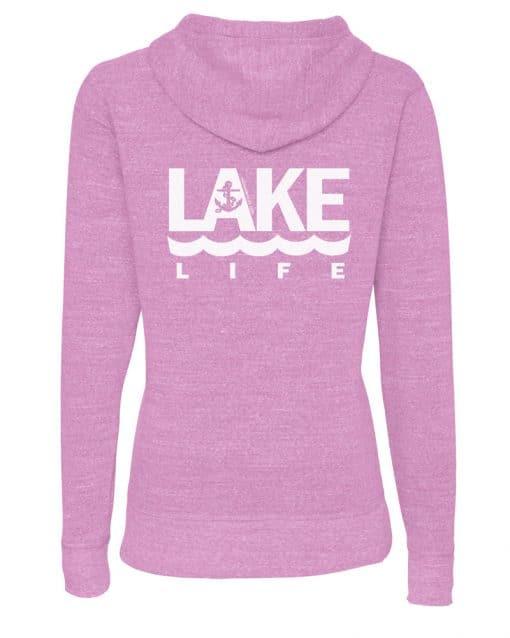Lake Life Anchor Women's Heather Hyacinth Vintage Full Zip Hoodie