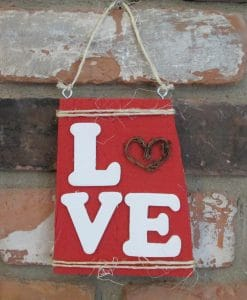 Valentines Day Love Wood Sign