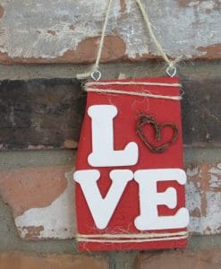 Valentines Day Love Wood Sign-2