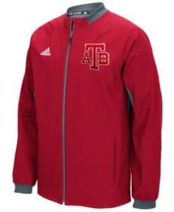 Anchor Bay Tars Unisex Adidas Red Full Zip Jacket