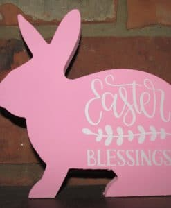 Standing Wood Bunny-Easter Blessings