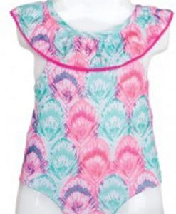Infant Baby Girls Pink Multicolor 1-Piece Swimsuit