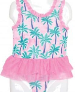 Toddler Baby Girls Pink 1-Piece Tutu Swimsuit