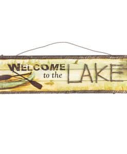 "Welcome To The Lake Wall Sign 18"" X 6"""
