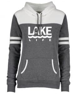 Michigan Lake Life Women's Gray Varsity Fleece Hoodie