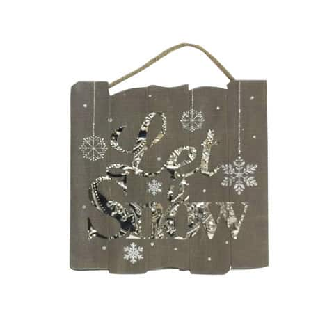"""Let It Snow 13"""" x 13"""" Wall Plaque"""