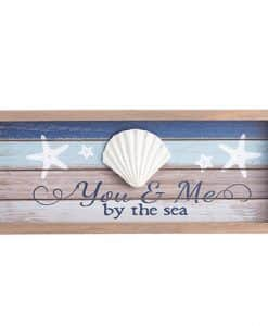 """You & Me By The Sea Tabletop Decor 13.5"""" X 5.5"""""""