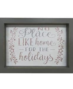 """No Place Like Home for the Holidays Tabletop Sign 9"""" x 6.7"""""""