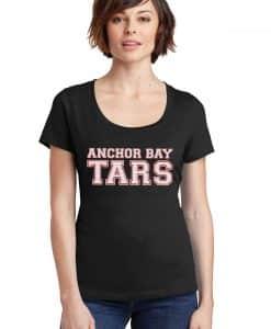 Anchor Bay Tars Women's Black Scoop Neck T-Shirt Tee