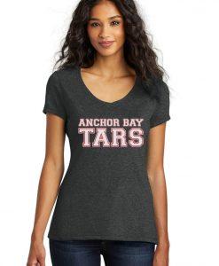 Anchor Bay Tars Women's Black Tri-Blend V-Neck T-Shirt Tee