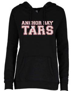 Anchor Bay Tars Women's Black V-Notch Fleece Pullover Hoodie