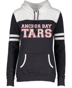 Anchor Bay Tars Women's Black Heather Varsity Fleece Hoodie