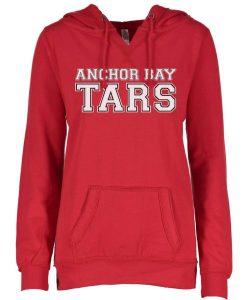 Anchor Bay Tars Women's Red V-Notch Fleece Pullover Hoodie