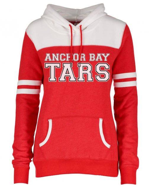 Anchor Bay Tars Women's Red Varsity Fleece Hoodie