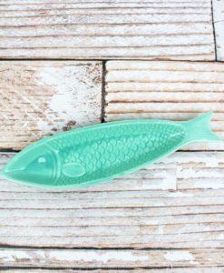 "2.5"" x 9.5"" Porcelain Fish Shaped Snack Dish"