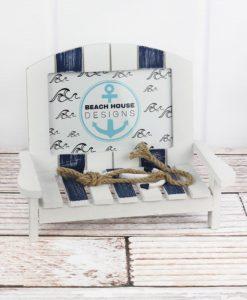 """Nautical Beach Chair 4"""" x 6"""" Photo Frame"""