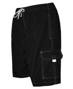 Men's Black Swim Trunk Board Shorts - Surf Ave