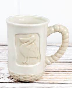 Ceramic White Pelican Mug