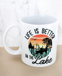 Life Is Better On The Lake 15 oz White Mug