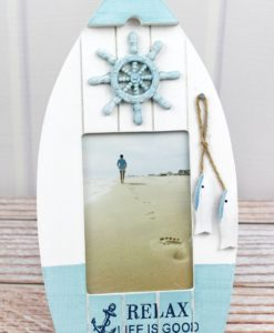 """Relax Life Is Good Wood Boat 4"""" x 6"""" Photo Frame"""