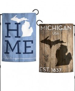 """State of Michigan Home 2 Sided 12.5""""x18"""" Garden Flag"""