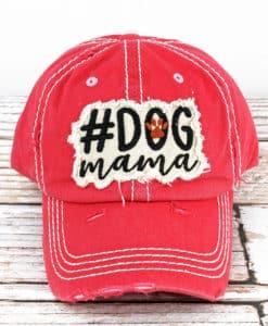 Distressed Salmon #Dog Mama Adjustable Hat