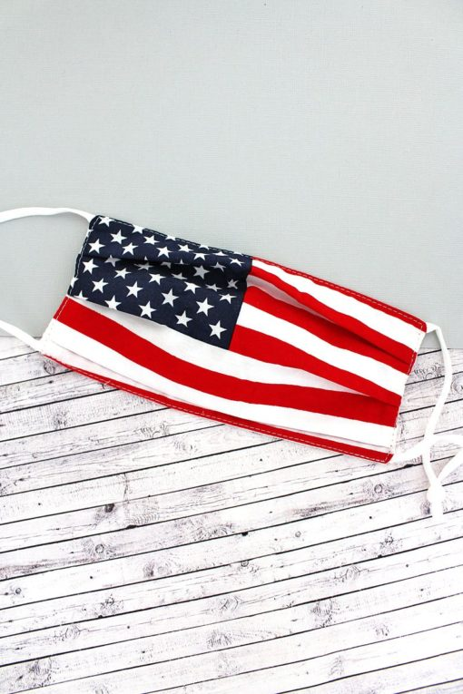 American Flag Two-Layer Pleated Fashion Face Mask