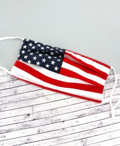 American Flag KIDS Two-Layer Pleated Fashion Face Mask