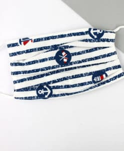 Nautical Stripes Two-Layer Pleated Fashion Face Mask