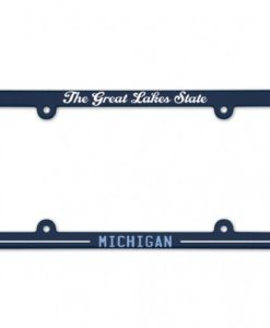 Michigan Great Lakes State Navy License Plate Frame