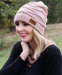 Autumn Adventure Indi Pink Knit Beanie Hat