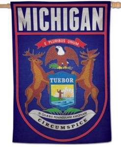 """State of Michigan 28""""x40"""" Vertical Flag"""