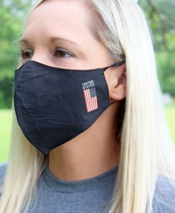 American Flag United States Two-Layer Black Fashion Face Mask
