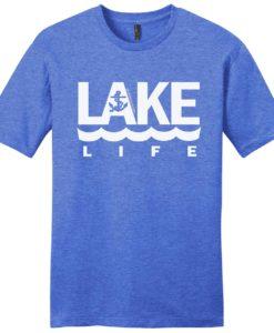 Lake Life Anchor Men's Blue Frost T-Shirt Tee
