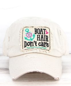 Boat Hair Don't Care Distressed Stone Adjustable Hat